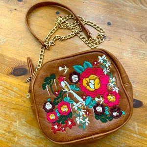 Madison West Crossbody embroidered Floral bag
